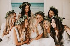 Flower crowns for an ethereal bohemian wedding