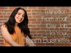 How To Transition From Your Day Job To Your Dream Business  http://marieforleo.com/2011/06/transition-day-job-dream-business/  Career switching might be hard but with these simple steps to guide you, the transition can never be this easy. Sign up here (it's FREE!): www.marieforleo.com