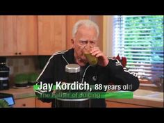 The Father of Juicing, Jay Kordich makes one of the most important juice combinations ever, raw potassium broth. It combines greens and carrots to make a drink that's high in density of nutrients per calorie.