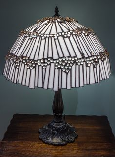 This Marbellous lamp was the first piece I made when I launched Orchid Stained Glass. It is 50cm diameter and features 500 clear marbles and almost 300 white glass 'shards', ...