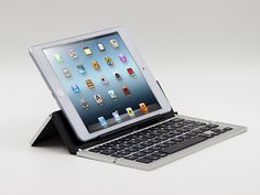 Triple folding aluminum alloy Bluetooth keyboard| Buyerparty Inc.