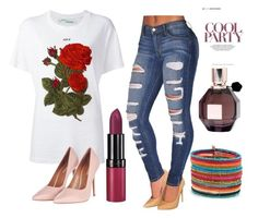 """""""ROMWE"""" by jasmina-ishak ❤ liked on Polyvore featuring Off-White, Viktor & Rolf, Rimmel and Topshop"""