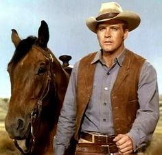 Charger and Lee Majors on The Big Valley...love it when the horse gets equal billing
