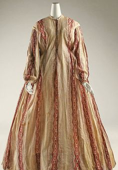 1850 Morning dress/wrapper  Click to see more details http://www.metmuseum.org/collections/search-the-collections/80036256?img=0