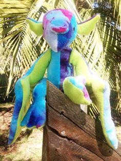 Adorable dragon plush!  Hydrangea the winged dragon-RTS on Etsy, $45.00