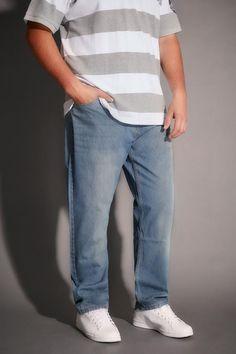 Big Tapered Fit Jeans in Rip & Repair - Stonewash BadRhino lEtZZbPw