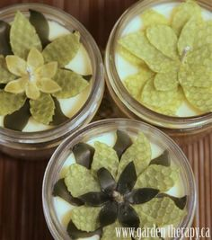 Beeswax flower mason jar candle Tutorial - They use beeswax sheets & cookie cutters but you could cut petals my hand easily