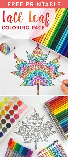 Fall Leaf Coloring Page - Free Printable and Coloring Contest - International Arrivals