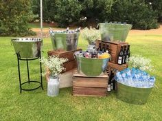 Unique Diy Backyard Wedding Reception PatternDrinks Station Perfect Idea For An Outdoor Wedding Wedding Decor intended for ucwords] Trendy Wedding, Rustic Wedding, Decor Wedding, Wedding Summer, Wedding Ceremony, Wedding Table, Wedding Centerpieces, Wedding Bonfire, Rustic Centerpieces