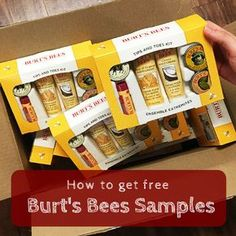 were sending out free burts bees samples click the pin to tell us