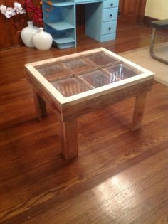 End table  reclaimed window by PorterFurniture on Etsy, $185.00