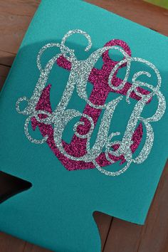 Hey, I found this really awesome Etsy listing at https://www.etsy.com/listing/178766988/glitter-monogram-coozie