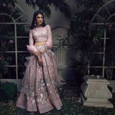Saga Of Love - Falguni Shane Peacock Launches Their New Bridal Collection. - Tikli - India's Leading Fashion and Beauty Magazine Designer Bridal Lehenga, Bridal Lehenga Choli, Wedding Lehnga, Blue Lehenga, Wedding Dresses, Indian Wedding Outfits, Bridal Outfits, Indian Outfits, Eid Outfits