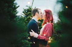 Erica Houck Photography christmas lights couple engagement winter shoot photoshoot session
