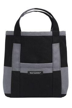 Mini Peruskassi Galleria Tote Bag Dark Grey/Black