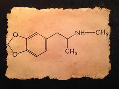 MDMA molecule is an empathogenic drug of the phenethylamine and amphetamine classes of drugs by RecreatingThePast, $16.80