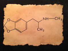 MDMA molecule is an empathogenic drug of the phenethylamine and amphetamine classes of drugs by RecreatingThePast, $16.80