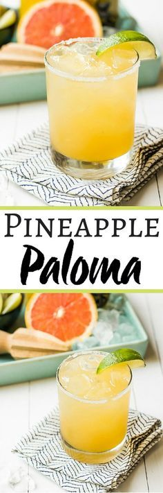 Pineapple Grapefruit Paloma | wickedspatula.com