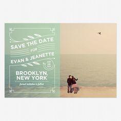 Coney Island Save the Date Postcards www.lovevsdesign.com