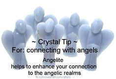 Crystal Tip ~ For Connecting with Angels : Use Angelite. Chakra Crystals, Crystals And Gemstones, Stones And Crystals, Healing Crystals, Chakras Reiki, Inspirational Rocks, The Good Witch, Believe In Magic, Crystal Meanings