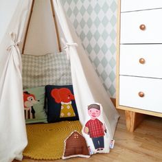 Make a cosy den in your kids room and put some soft cushions inside!  ferm LIVING Kids Cushions - http://www.fermliving.com/webshop/shop/kids-room/kids-cushions.aspx