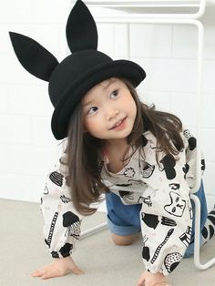 Bunny Hat - Black