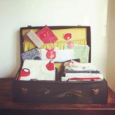 KusKat all neatly folded and packed to be soon going off ... #traveling #creativelifehappylife #luggage #homedesign #instartist #bohohome #illustrationbox #colorfullife #womanbiz