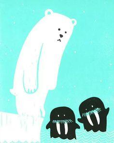 1,2,3 Banquise - illustration  Olivier Philipponneau & Raphaële Enjary