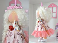 Muñeca rusa de muñeca de trapo tela muñeca por AnnKirillartPlace