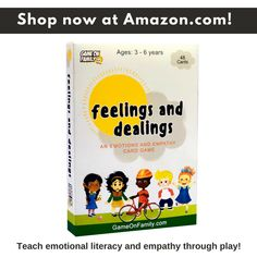 Feelings and Dealings: An Emotions and Empathy Card Game Empathy Cards, Emotions Cards, Social Emotional Learning, Social Skills, Therapy Games, Learning Games, Emotional Intelligence, Games For Kids, Card Games