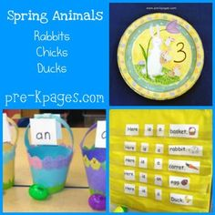 ideas for easter theme in preschool, games, printables, simple books, centers Preschool Learning Activities, Preschool Themes, Easter Activities, Spring Activities, Preschool Teachers, Pre K Pages, Spring Theme, Math Crafts, Grid Game
