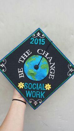 My own graduation cap!! Social Work 2015. #Mercyhurst