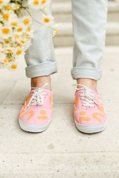 923e8cd3360 Bring out the colors this summer with this DIY abstract color block sneakers  Creative Crafts