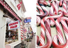 Gränna Sweden-famous for it's polkagris stick candy.  I don't really like peppermint rock candy.but still would love to see this.