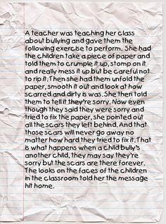 I wish i had a teacher like this when i was bullied :(