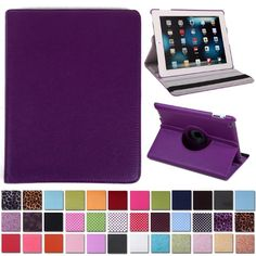 HDE Rotating iPad Case Magnetic Folding Leather Cover Folio Flip Stand for Apple iPad 2 iPad 3 iPad 4 (Purple) HDE http://www.amazon.com/dp/B00EZQ4S7Q/ref=cm_sw_r_pi_dp_56xexb084JZEN