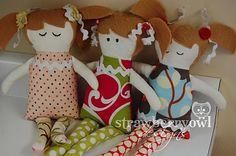 Strawberry Owl Designs: Fabric Dolls