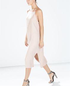 Image 2 of SLIP DRESS WITH SLITS from Zara