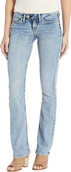 online shopping for Silver Jeans Co. Women's Tuesday Low-Rise Slim Bootcut Jeans from top store. See new offer for Silver Jeans Co. 6 Pack Women, Fashion Hub, Jeans Fashion, Fashion Women, Bandeau One Piece Swimsuit, Juniors Jeans, Silver Jeans, Jeans Brands, Jeans Style