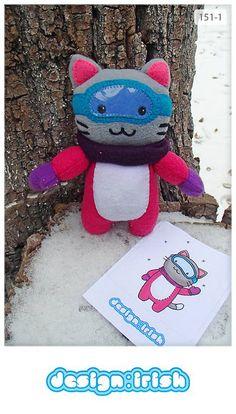 151 | #snowboard #cat #plush #toy #handmade