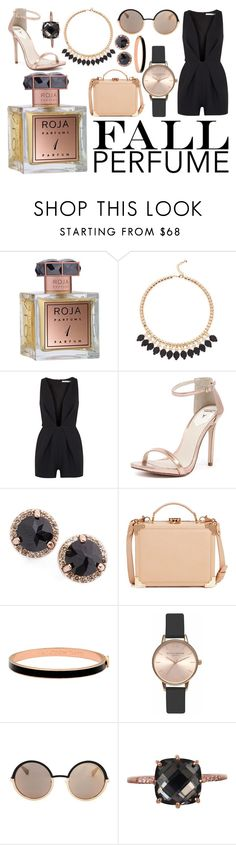 """""""Roja Parfums"""" by sgfrost98 ❤ liked on Polyvore featuring beauty, Roja Parfums, Ted Baker, Finders Keepers, Windsor Smith, Anna Sheffield, Aspinal of London, Halcyon Days, Olivia Burton and Marc by Marc Jacobs"""