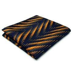 Navy and Gold Tiger Pattern - Pocket Square
