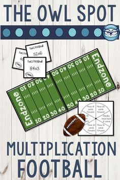 Your students will be rooting for this game all year long! Practice multiplication facts all the way up through 3 digit x 2 digit numbers with this highly engaging multiplication football partner game. Because it's so easy to assemble, your students will be playing this game in no time at all. Multiplication Activities, Math Games, Classroom Activities, Teaching Math, Teaching Resources, Science Resources, Fifth Grade Math, Christian School, Beginning Of The School Year