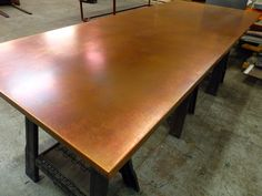 77 Large Bronze Copper Table Top Dining Table Copper Copper Top Table Kitchen Table Copper
