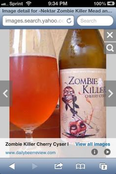 My first Mead - Zombie Killer: A Sweet Mead