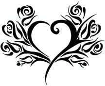 Heart/ Rose Tribal