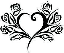 Heart/ Rose Tribal