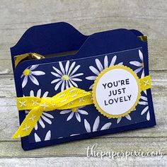 Mini File Folder Treat Holder with Video Tutorial - The Paper Pixie Diy Gift Bags Paper, Envelope Punch Board Projects, Paper Folder, Stampin Up, Paper Purse, How To Make An Envelope, Scrapbook Paper Crafts, Scrapbook Albums, Scrapbooking