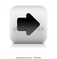All web button this series internet icon http://www.shutterstock.com/sets/101711-stone-white-button.html?rid=498844 — Stone web 2.0 button arrow symbol sign. White rounded square shape with shadow and reflection. White background — #Royalty #free #stock #vector #illustration for $0.28 per download