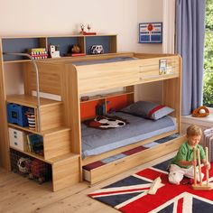 Harbour Natural Storage Bunk Bed - All Children's Beds - Beds & Mattresses - gltc.co.uk